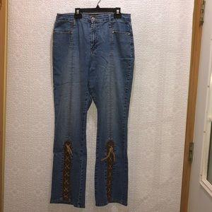 Lisa Dee Retro 70's Style Boho Hippie Jeans